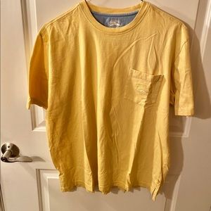 Tommy Bahama Relax Short Sleeve Yellow T-shirt L